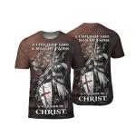 Warrior Lion Jesus T-shirt A Child of God A Man Of Faith