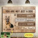 Personalized Dog Canvas Wall Art You Are Not Just A Dog You Are My Sanity