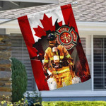 Canada Fire Fighter Flag Honor Rescue