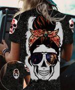 Skull Girl Wearing Glasses T-shirt