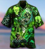 Skull Weed Shirt Full Printing