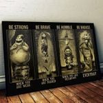Nightmare Before Christmas Halloween Canvas Wall Art Be Strong