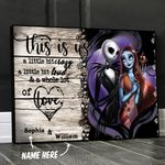 Personalized Jack And Sally Canvas Wall Art This Is Us