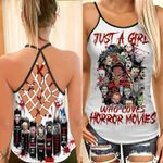 Just A Girl Who Loves Horror Movies Criss Tank Top PANCRC0002