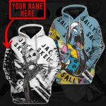 Jack And Sally Personalized Couple 3D Hoodies