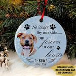 Personalized Memorial Gift Dog Circle Ornament No Longer By Our Side