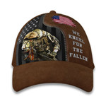 Pride American Veteran Cap We Kneel For The Fallen