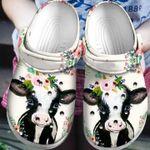 Funny Cow Flower Crocs Classic Clogs Shoes PANCR0210