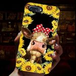 Cow Wearing Hairpin Sunflower Phone Case