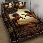 Couple Horse Riding Quilt Bed Set