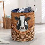 Black & White Cow Laundry Basket