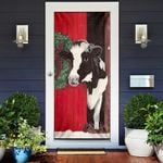 Cow Merry Christmas Door Cover