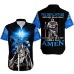 Christian Lion Knight Tshirt The Devil Saw Me With My Head Down