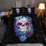 Skull Rose Pattern Bedding Set