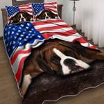 Beagle American Flag Bedding Set