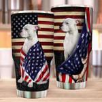 Pitbull American Flag Tumbler