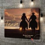 Personalized Gift For Couple Riding Horse Canvas Wall Art We're A Team