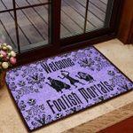 Halloween Gift Foolish Mortals Doormat Welcome