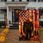 Halloween Gift Bigfoot Pumpkin Garden Flag