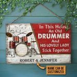 Personalized Gift For Couple Drummer Wood Sign In This House