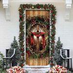 Cross Christian Merry Christmas Door Cover