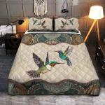 Hummingbirds Mandala Quilt Set