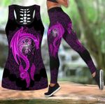 Dragon Mandala Purple Tank Top And Leggings
