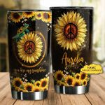 Personalized Hippie Sunflower Tumbler You Are My Sunshine