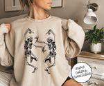 Dancing Skeletons Two Halloween 2D Sweatshirt