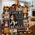 Beagle Quilt I Love My Sock Stealin Leash Pullin