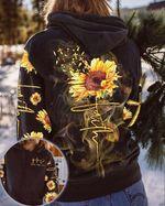 Sunflower 3D Hoodie Faith Heartbeat