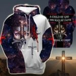 Jesus Christian Warrior Woman 3D Hoodie A Child Of God A Woman Of Faith