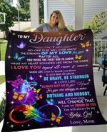Gift For Daughter From Mom Butterfly Feather Blanket I Am So Proud Of You