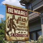 Bigfoot Walking Flag Beware This Property Protected By Sasquatch