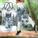 Wolf In The Snow Tank Top And Leggings Set