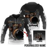 Personalized Drummer Black Lover 3D Hoodie Trust Me