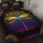 Colorful Dragonfly Pattern Quilt Set