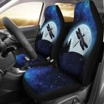 Dragonfly In The Moon Galaxy Sky Car Seat Cover