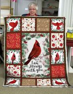 Cardinal Quilt Blanket I Am Always With You