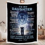Gift For Daughter From Dad Lion Blanket It's Hard To Find Words To Tell You
