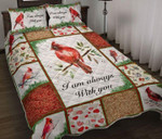 Memorial Gift Cardinal Quilt Set I Am Always With You