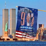 Patriot Day 911 Eagle Firefighter Flag Never Forget