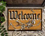 Skeleton Doormat Welcome