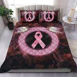 Breast Cancer Rose Quilt Set