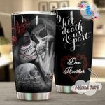 Personalized Gift For Couple Sugar Skull Tumbler Till Death Do Us Part