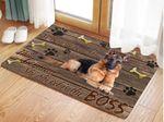 German Shepherd Doormat No Bones About It