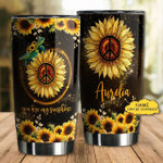 Personalized Sunflower Hippie Tumpler You Are My Sunshine