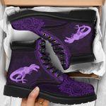 Dinosaur Mandala Purple Classic Boots