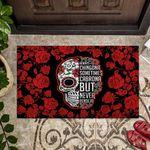 Sugar Skull Rose Doormat Always Chingona Sometimes Cabrona
