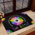 Daisy Kindness Doormat In A World Where You Can Be Anything Be Kind